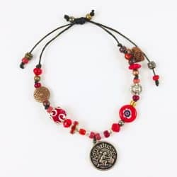 Aquarius Red Bead Bracelet