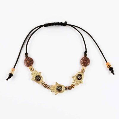Golden Bronze Namaste Bracelet