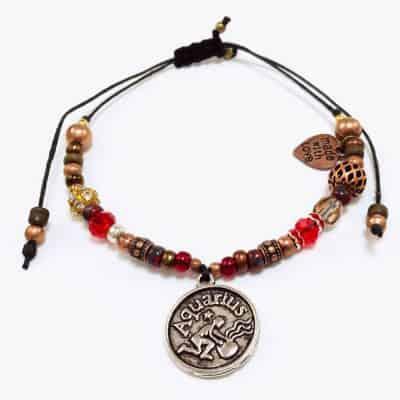 Old World Aquarius Beaded Bracelet - Art Filled Soul