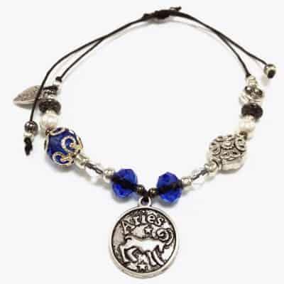 Blue Aries Beaded Bracelet
