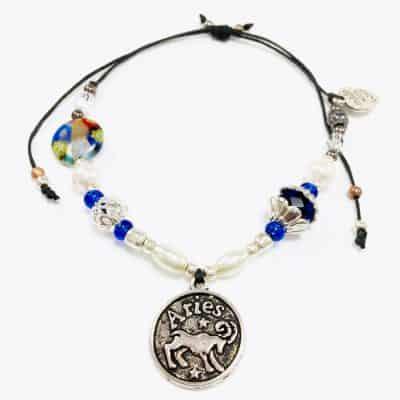 Floral Aries Beaded Bracelet