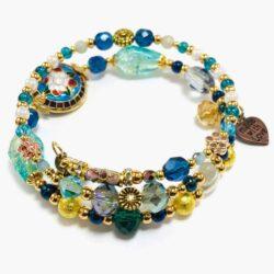 Aquamarine Fusion Wrap Bracelet