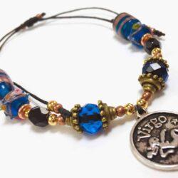 Blue Retro Virgo Bracelet