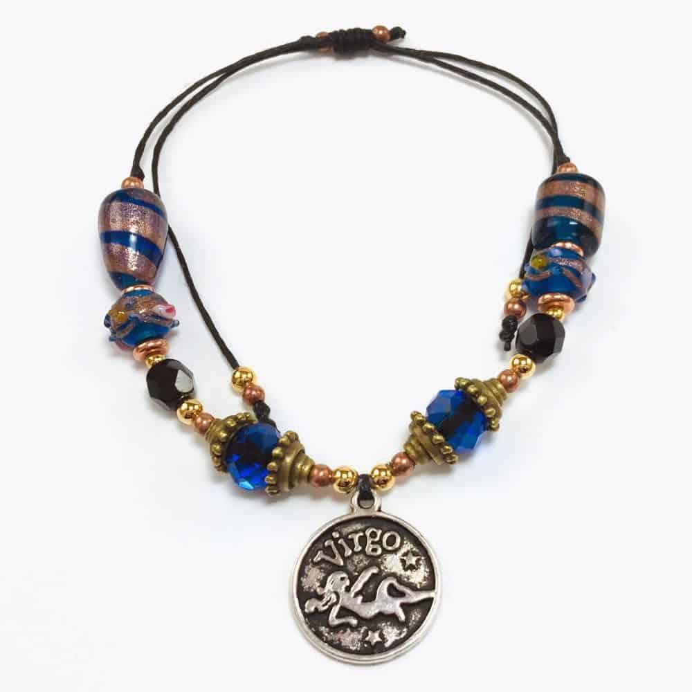 Blue Retro Virgo Handmade Beaded Bracelet