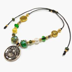 Golden Cancer Astrology Bracelet