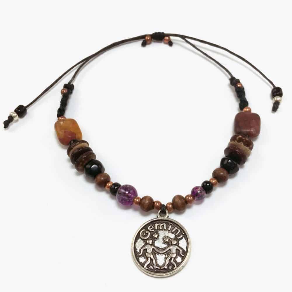 Natural Stone Gemini Handmade Beaded Bracelet