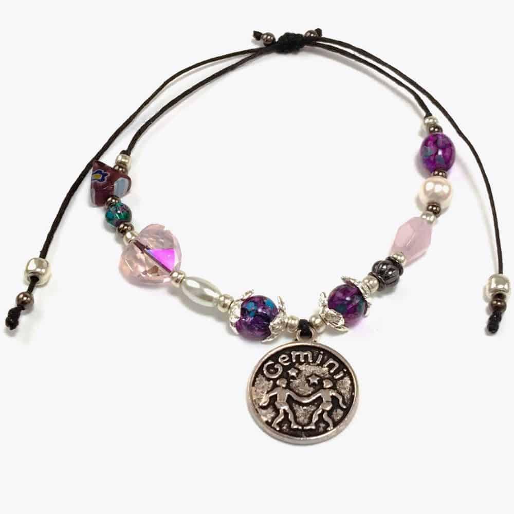 Gemini Love Handmade Beaded Bracelet