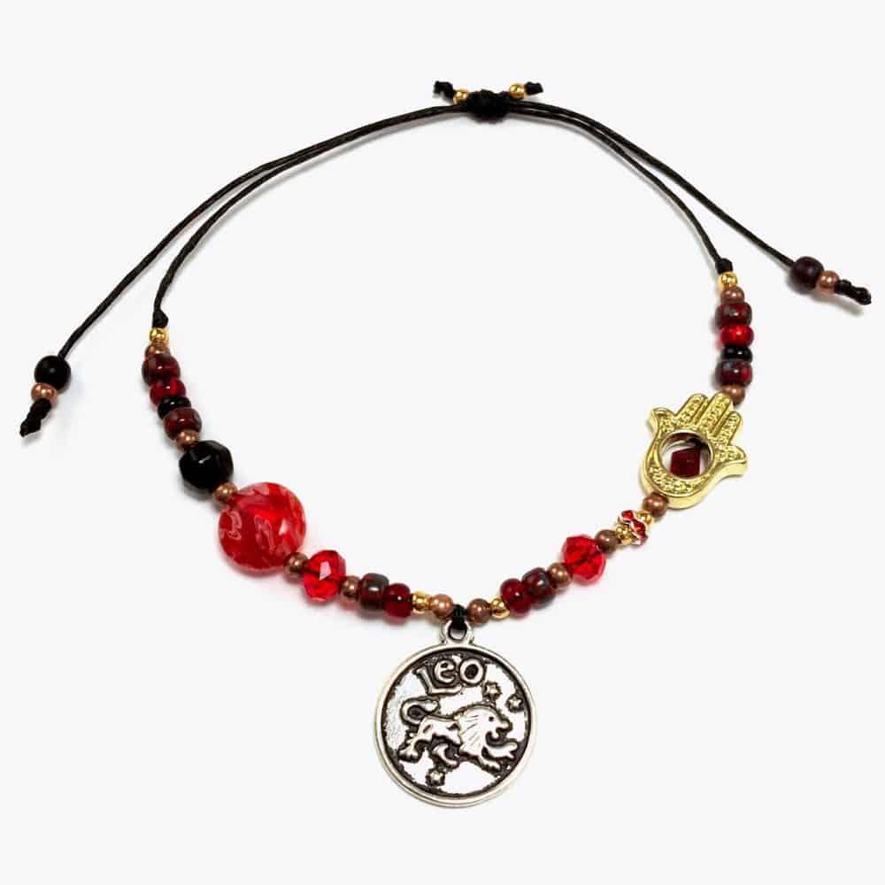 Hamsa Leo Handmade Beaded Bracelet by Art Filled Soul