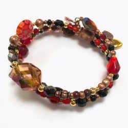 Sunset Floral Wrap Bracelet
