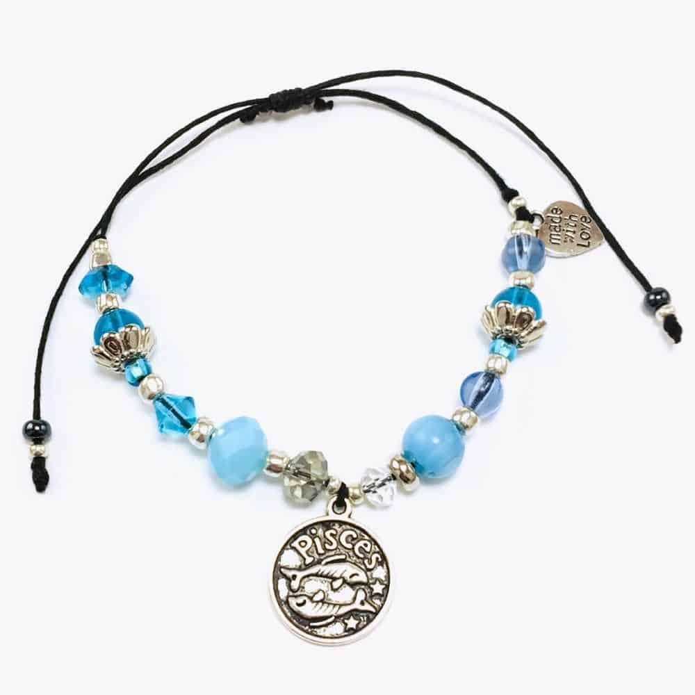 Pisces Blue Beaded Bracelet