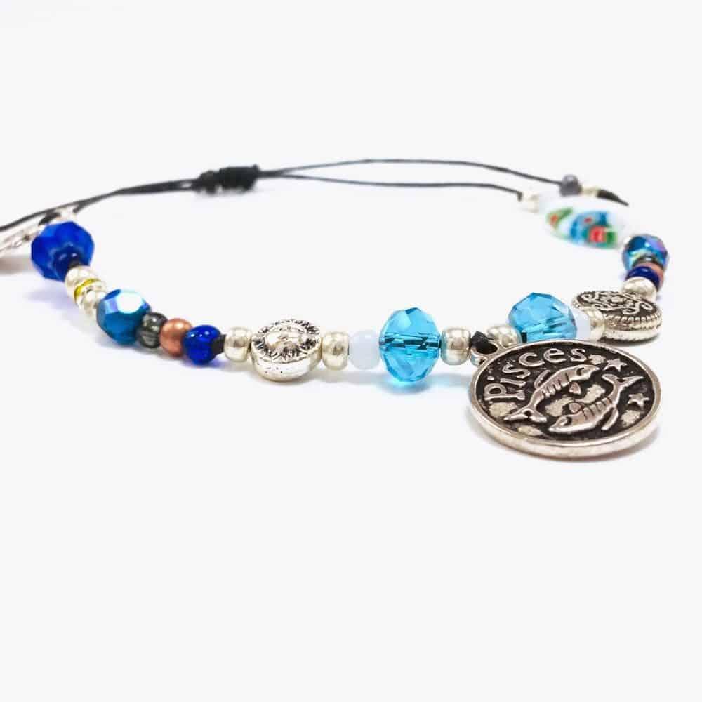 Pisces Astrology Bead Bracelet