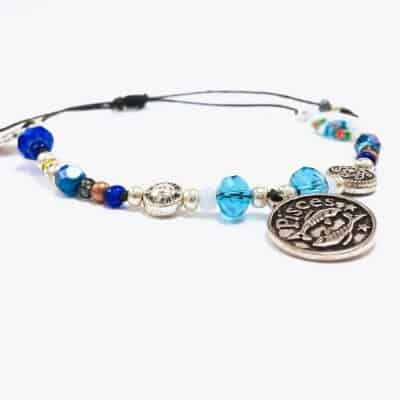 Pisces Astrology Bead Bracelet