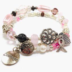 Pink Courage Breast Cancer Bracelet