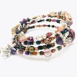 Purple Bead Wrap Bracelet