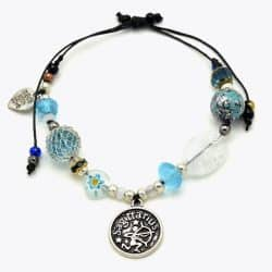 Sagittarius Floral Beaded Bracelet