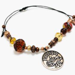 Golden Scorpio Beaded Bracelet