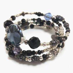 Sultry Gray Wrap Bracelet