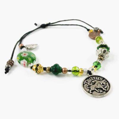 Taurus Floral Charm Bracelet