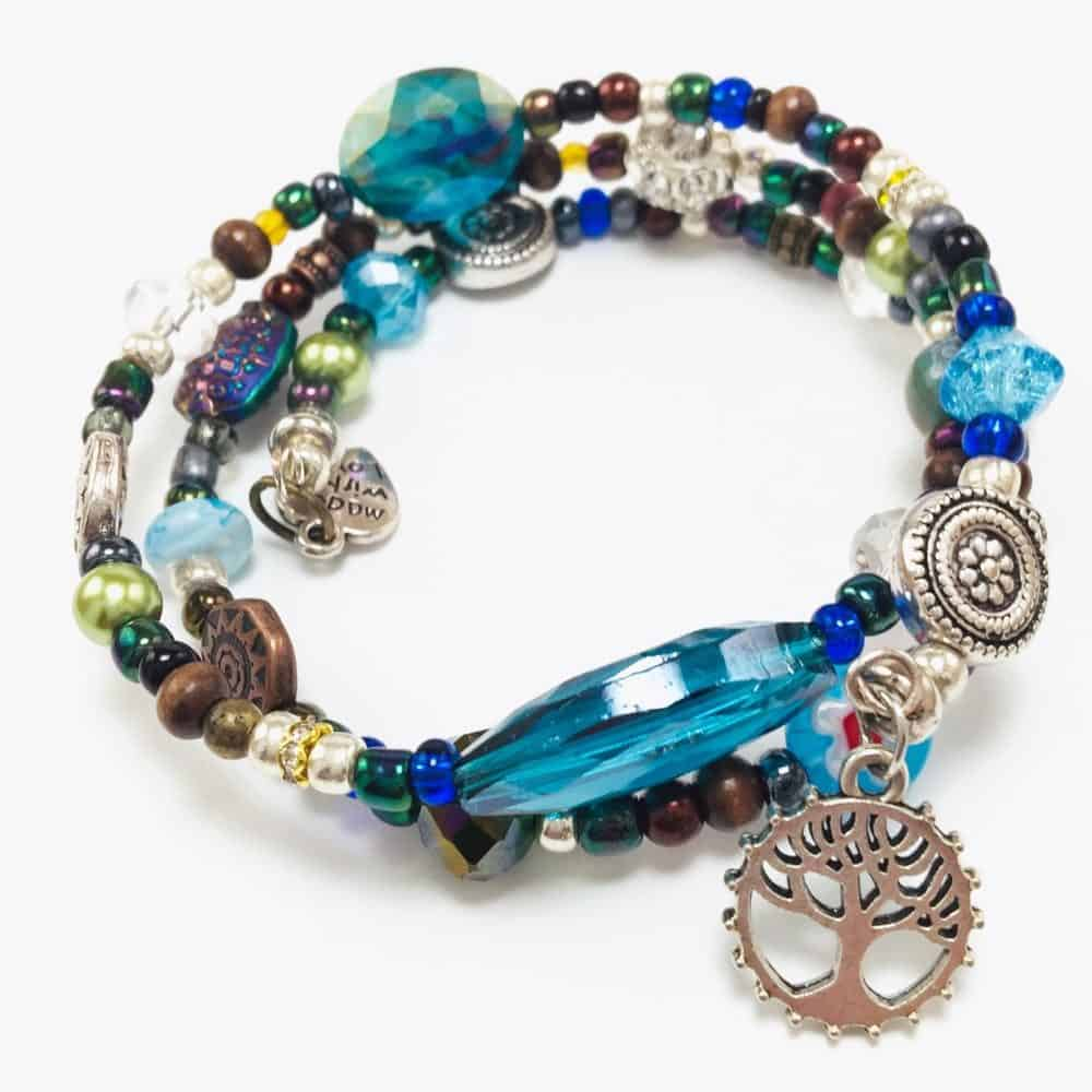 Tree of Life Beaded Wrap Bracelet