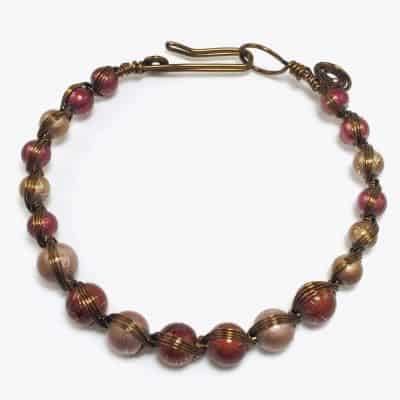Handmade Rustic Copper Wire Bracelet by Art Filled Soul