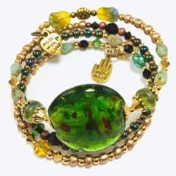 Luck of the Irish Wrap Beaded Bracelet by Art Filled Soul