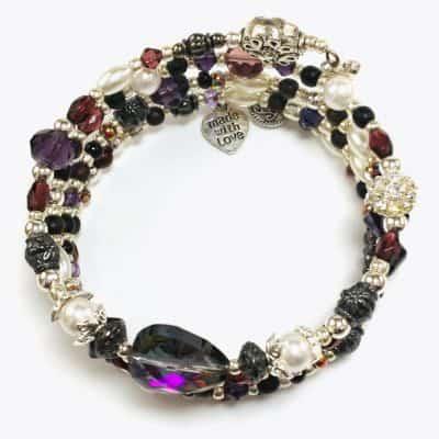Purple Tone Wrap Bracelet