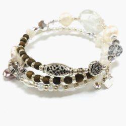 White Pearl Beaded Bracelet