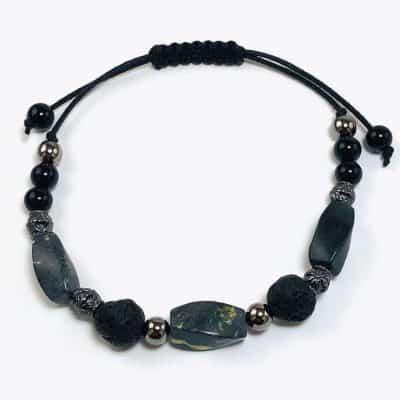Black and Gray Natural Stone Bracelet