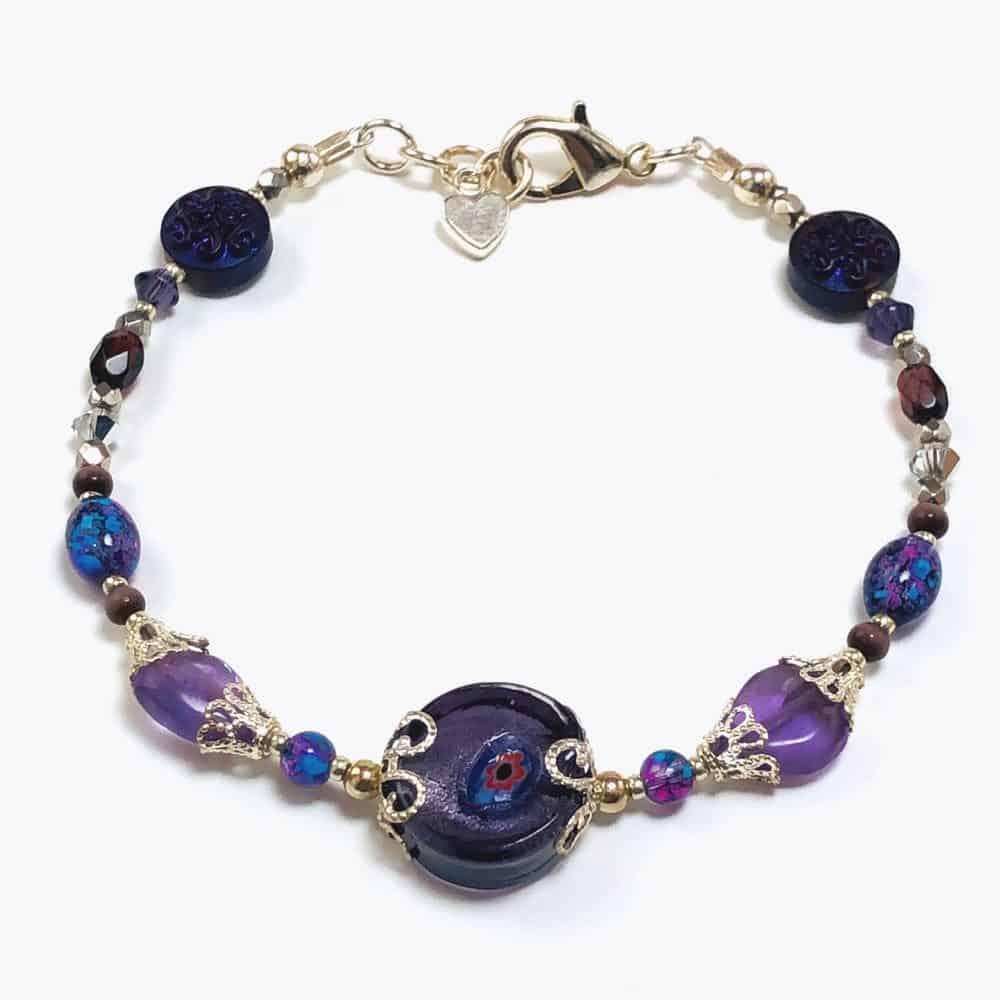 Amethyst Floral Bracelet