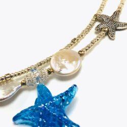 Blue Pisces Ocean Choker