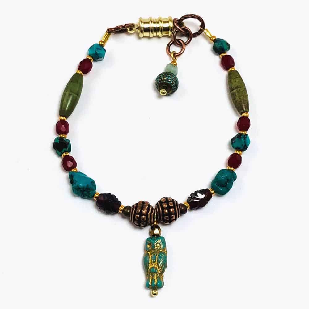 Turquoise Owl Bracelet