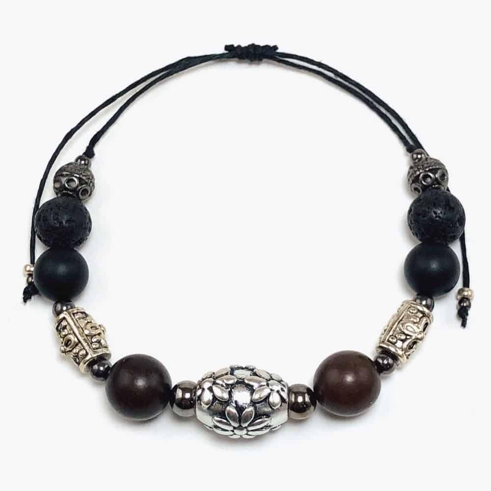 Hawaiian Floral Beaded Bracelet by Art Filled Soul
