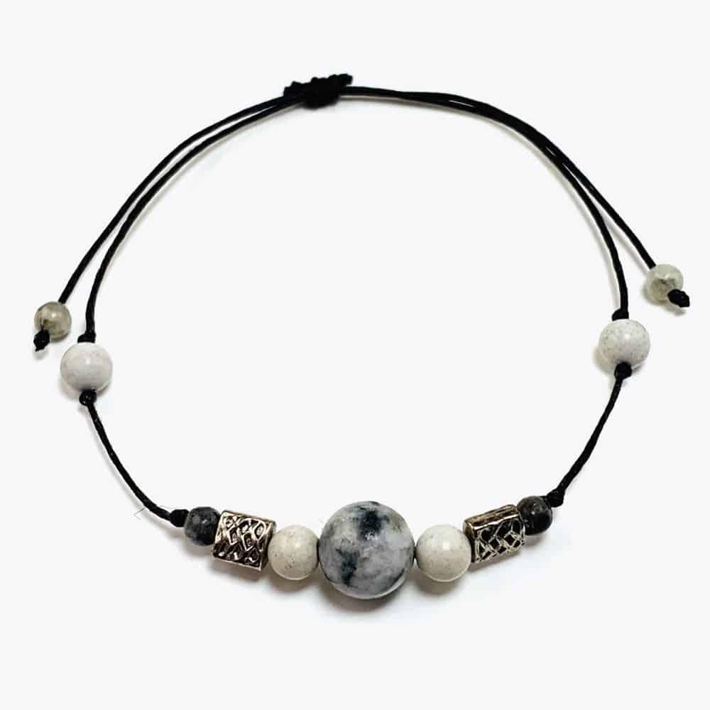 White Natural Stone Beaded Bracelet