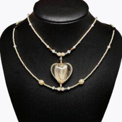 Bronze Heart Choker