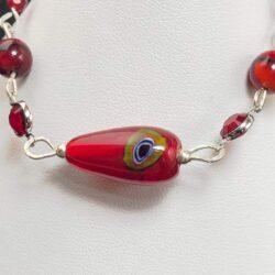 Red Teardrop Bracelet