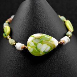 Green Pearl Bracelet