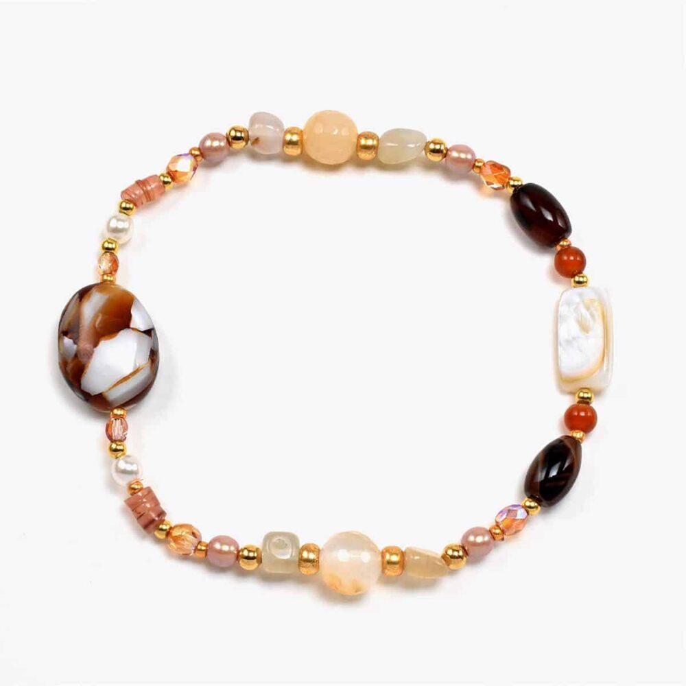 Brown Pearl Mix Bracelet