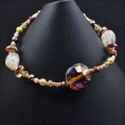 Golden Glass Owl Bracelet