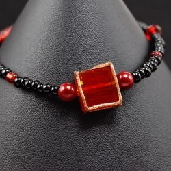 Golden Red Square Bracelet