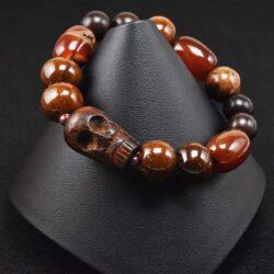 Skull and Agate Bracelet