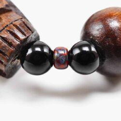 Wood and Stone Skull Bracelet