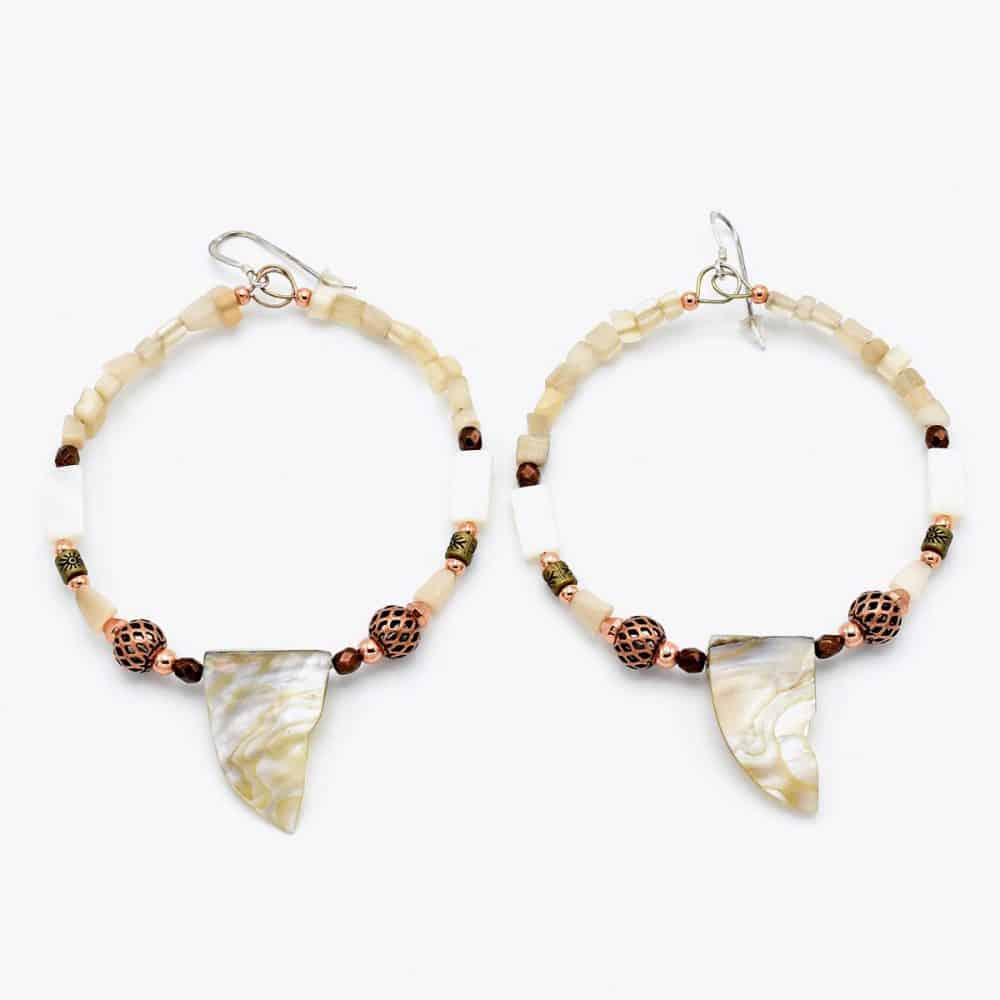 Shell Pearl Hoops