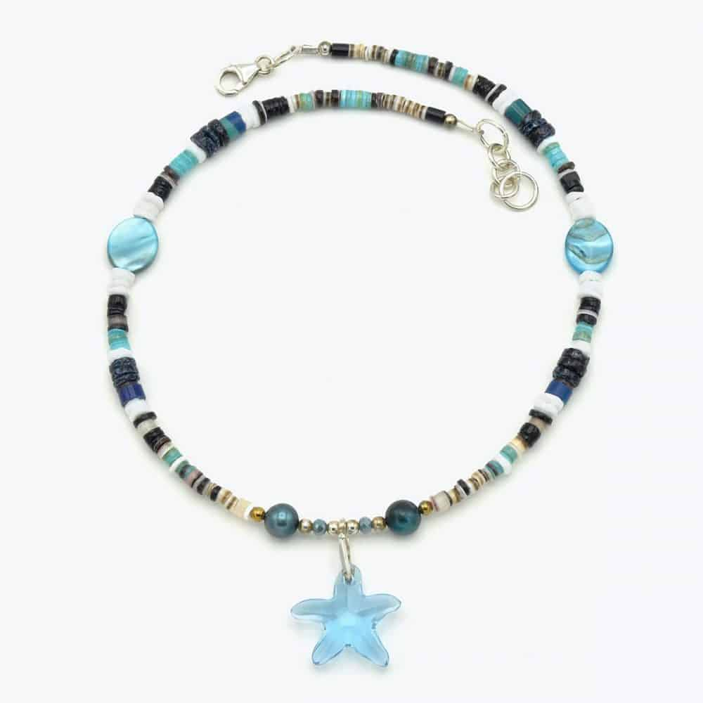 Aquamarine Star Choker